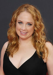 Jessica Chaffin wore her strawberry-blonde locks in romantic waves for the premiere of 'The Heat.'