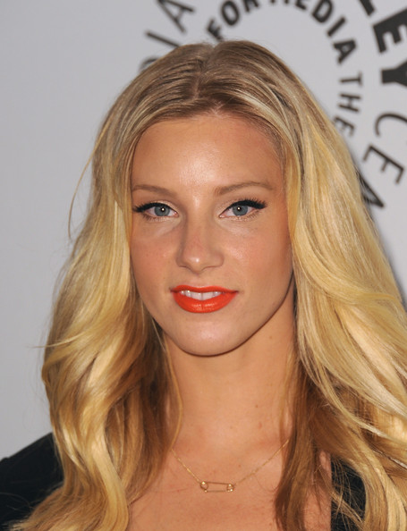 Heather Morris Gold Pendant [glee,hair,face,blond,eyebrow,lip,hairstyle,chin,forehead,long hair,beauty,paleyfest 2011,heather morris,beverly hills,california,saban theatre,paley center for media,event]