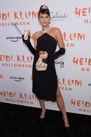 Georgia Fowler came dressed as Audrey Hepburn from 'Breakfast at Tiffany's' at Heidi Klum's Halloween party.