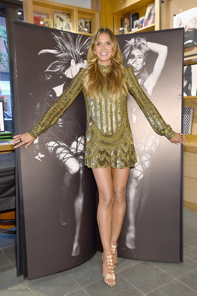 Heidi Klum Sequin Dress [heidi klum,rankin,rankin celebrate heidi klum,zac posen,clothing,lady,fashion,leg,costume,thigh,fun,dress,footwear,human leg,new york city,bookmarc]