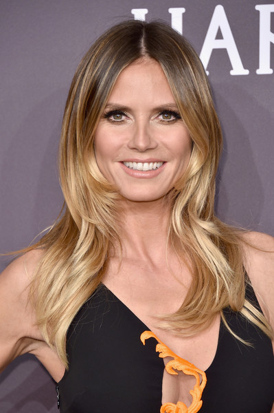 Heidi klum long center part hair lookbook stylebistro heidi klum long center part urmus Images