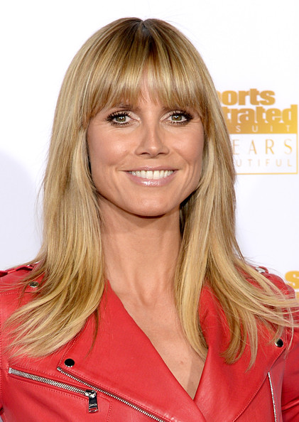 Heidi Klum Long Straight Cut with Bangs