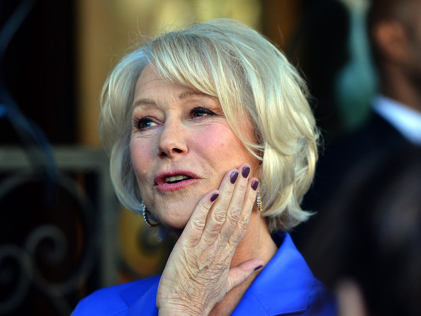 Helen Mirren Dark Nail Polish
