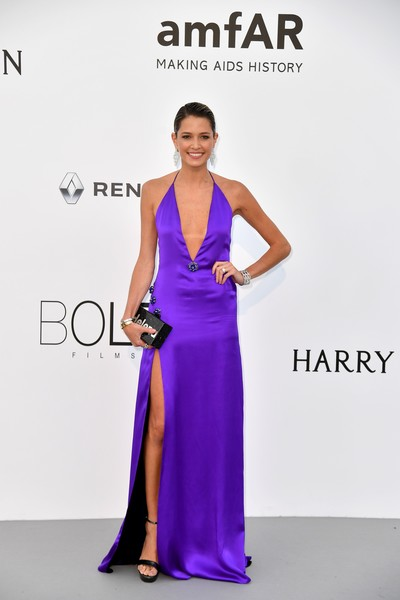 Helena Bordon Halter Dress [photo,dress,fashion model,clothing,shoulder,cobalt blue,fashion,purple,gown,electric blue,satin,helena bordon,alberto pizzoli,amfar gala cannes,brazilian,france,cap dantibes,hotel du cap-eden-roc,amfar,24th cinema against aids gala]