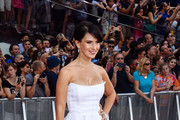 Hilaria Baldwin Strapless Dress