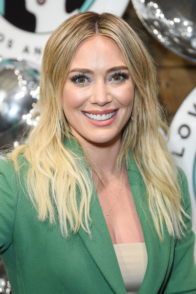 Hilary Duff Ombre Hair [hair,blond,face,hairstyle,eyebrow,layered hair,long hair,beauty,brown hair,hair coloring,annual cocktails for a cause,love leo rescue,hilary duff,cocktails,cause,rolling greens,los angeles,california]
