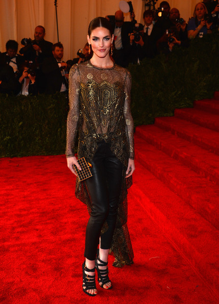 Hilary Rhoda Strappy Sandals [punk: chaos to couture,red carpet,carpet,fashion model,fashion,clothing,flooring,haute couture,premiere,event,dress,hilary rhoda,new york city,metropolitan museum of art,punk: chaos to couture costume institute gala,exhibition]