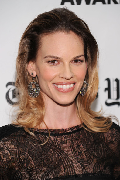 Hilary Swank Medium Layered Cut