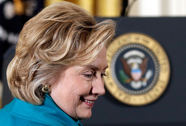 Hillary Clinton Bob [hair,face,facial expression,head,forehead,chin,hairstyle,nose,human,wrinkle,presidential medal of freedom,barack obama awards,interests,u.s.,nation,hillary clinton,bill clinton,barack obama,guests,individuals]