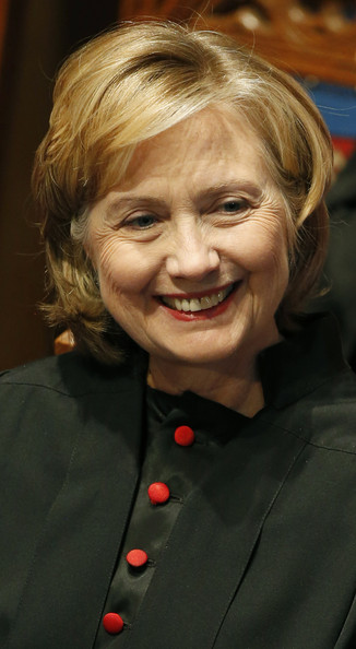 Hillary Clinton Bob [hair,face,facial expression,blond,hairstyle,chin,smile,nose,lip,cheek,hillary clinton,doctor of law degree,honorary degree,us,scotland,st andrews university,university,founding]