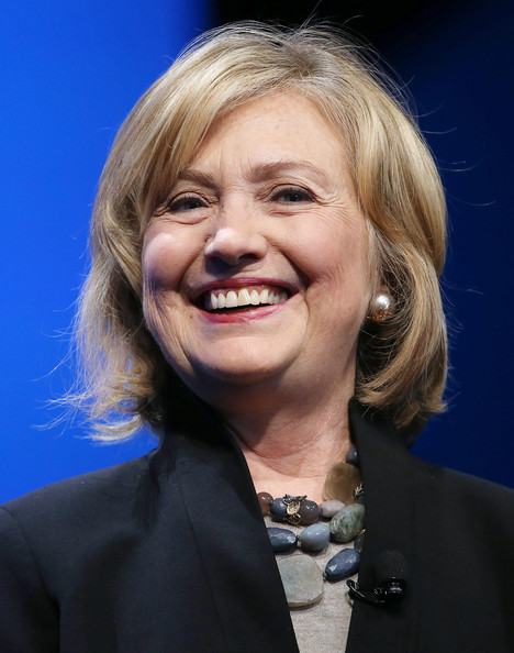 Hillary Clinton Bob [hair,face,facial expression,hairstyle,chin,smile,blond,official,spokesperson,laugh,hillary clinton,business leaders,politicians,keynote address,dreamforce,u.s.,california,dreamforce conference,dreamforce,conference]