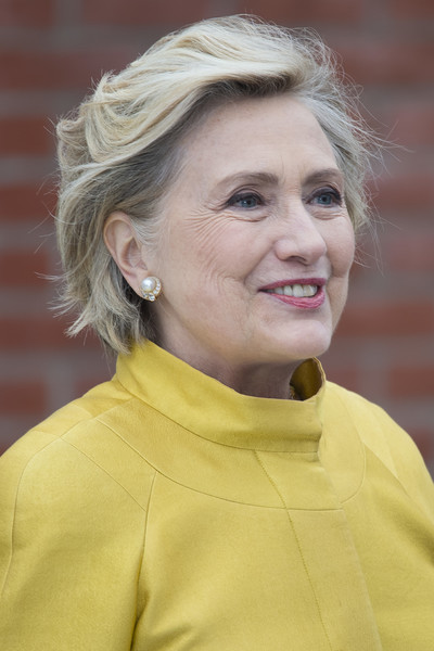 Hillary Clinton Bob [hair,face,chin,blond,wrinkle,smile,portrait,hillary clinton,honorary doctorate,secretary of state,laws,doctorate,us,swansea,wales,uk,swansea university]