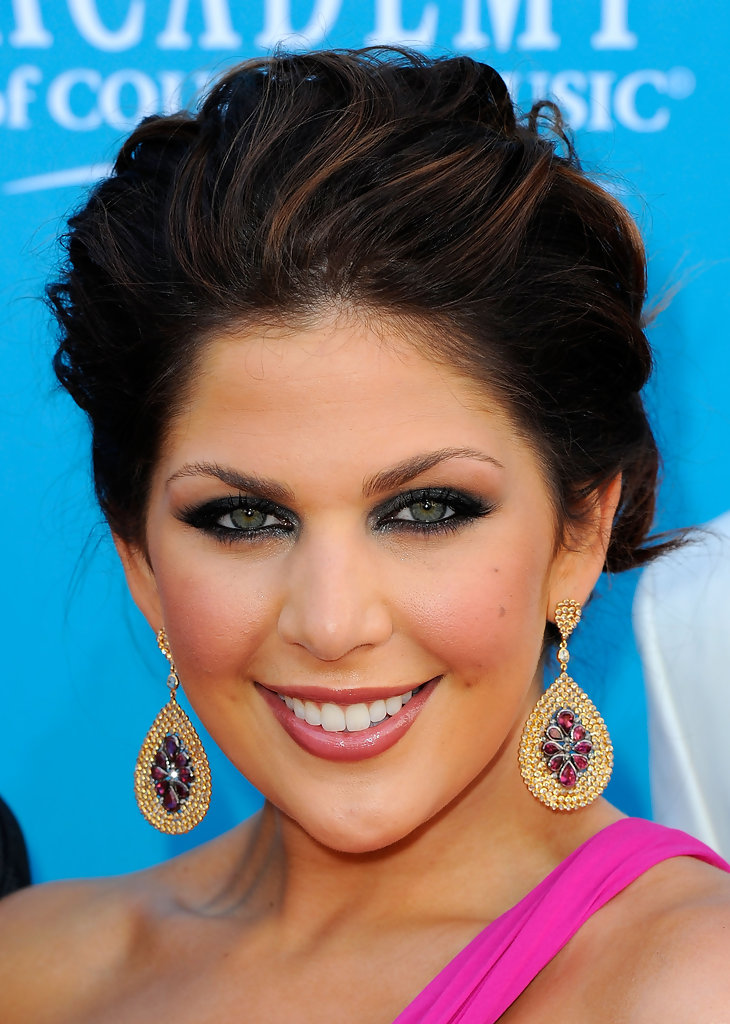 Pinned up Ringlets Updo Hairstyle Hillary Scott Updos Pinned up