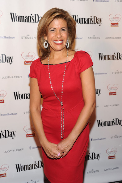 Hoda Kotb Diamond Lariat Necklace [red,hairstyle,shoulder,dress,cocktail dress,premiere,long hair,event,neck,layered hair,campbell,hoda kotb,address,heart,jazz,new york city,lincoln center,womans day red dress awards]