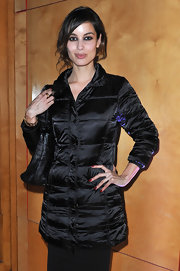 Berenice Marlohe attended the Hogan by Karl Lagerfeld fall 2012 presentation with her nails perfectly manicured and polished with a glossy burgundy lacquer.