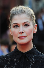 Rosamund Pike went for classic sophistication with this French twist at the premiere of 'What We Did on Our Holiday.'