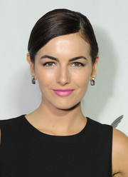 Camilla Belle polished off her look with a pair of square-shaped sterling dangle earrings.