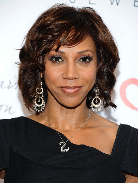 Holly Robinson Peete Medium Wavy Cut with Bangs