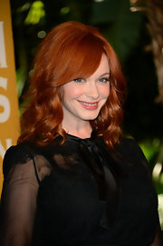 Christina's famous red locks were in full force at the Hollywood Foreign Press Association's luncheon.