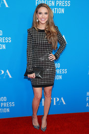 Chrishell Stause gleamed in a harlequin-beaded cocktail dress at the 2019 HFPA Grants Banquet.