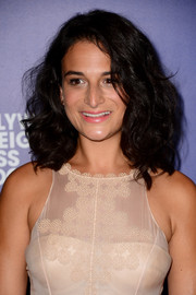 Jenny Slate sported big, shoulder-length curls at the Hollywood Foreign Press Association's Grants Banquet.