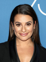 Lea Michele sported a straight side-parted hairstyle at the Television Game Changers panel discussion.