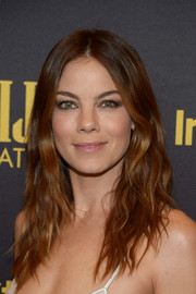 Michelle Monaghan was edgy-glam with her center-parted waves at the HFPA and InStyle Golden Globe Award season celebration.