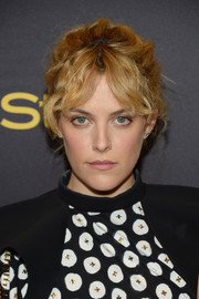 Riley Keough took a risk with this old-school updo at the HFPA and InStyle Golden Globe Award season celebration.