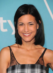 Julia Jones rocked a shoulder length straight cut in a bold raven hue.