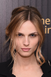 Andreja Pejic worked a messy-sexy updo at the Hollywood Reporter's 35 Most Powerful People in Media event.