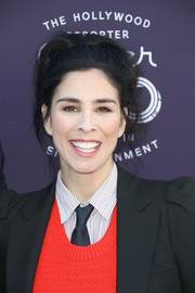 Sarah Silverman wore her hair in a messy updo at the Hollywood Reporter's 2017 Women in Entertainment Breakfast.