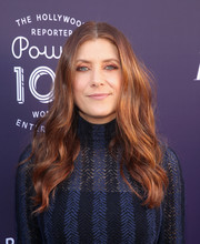 Kate Walsh wore her hair in a boho wavy style at the Hollywood Reporter's 2017 Women in Entertainment Breakfast.