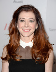Alyson Hannigan looked youthful with her tousled, feathered waves at the Women in Entertainment Breakfast.