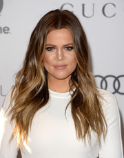 Khloe Kardashian injected some boho glamour into her look with this center-parted wavy 'do when she attended the Women in Entertainment Breakfast.
