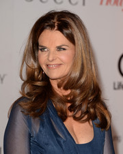 Maria Shriver styled her locks with curly ends for the Women in Entertainment Breakfast.