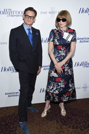 Anna Wintour kept it classy in a custom Calvin Klein floral frock at the Hollywood Reporter's 35 Most Powerful People in Media.