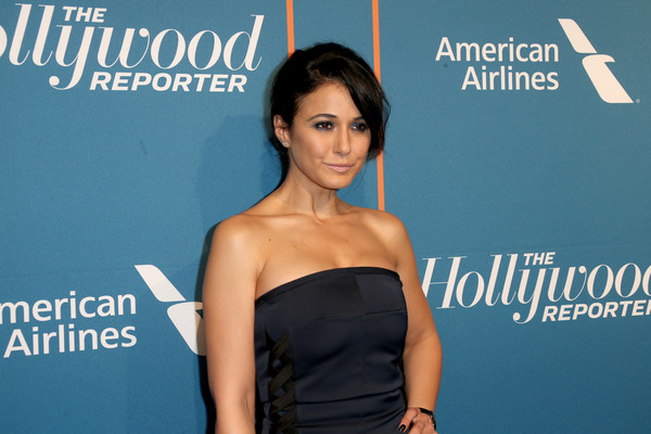 More Pics of Emmanuelle Chriqui Strapless Dress (1 of 4) - Dresses & Skirts Lookbook - StyleBistro