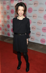 Sally Hawkins kept her look low-key in a pair of black leather ankle boots. She paired the shoes with monochromatic black attire.