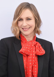 Vera Farmiga looked stylish wearing this asymmetrical wavy hairstyle at the Hollywood Reporter's Women in Entertainment Breakfast.