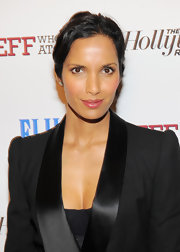 Padma Lakshmi attended a screening of 'Jeff Who Lives at Home' wearing a sheer muted raspberry lipstick.