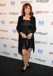 Susan Sarandon sported a silky LBD with lace trim for her look at the 'Jeff, Who Lives at Home' premiere.