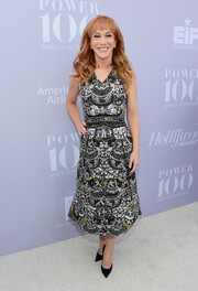 Kathy Griffin was dressed to impress in an opulently beaded cocktail dress at the Women in Entertainment Breakfast.