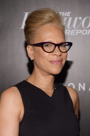 Tonya Lewis Lee styled her hair into a fauxhawk for the Hollywood Reporter's Most Powerful People in Media 2018.