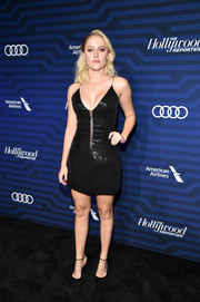 Maika Monroe looked ravishing in a low-cut black sequin dress by Thai Nguyen Atelier at the Hollywood Reporter's Next Gen 2016 celebration.