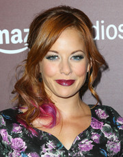 Amy Paffrath sported a totally fun and chic purple-streaked half-up 'do at the Next Gen 20th anniversary gala.