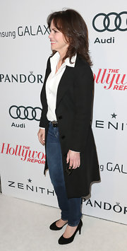Sally was all business in this long blazer coat at the Hollywood Reporter Nominees' Night.