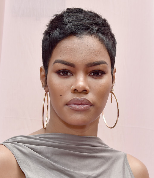 Teyana Taylor looked cool with her pixie at the Hollywood Unlocked Social Impact brunch.