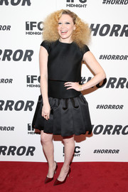 Natasha Lyonne attended the '#Horror' New York premiere wearing a trendy black cap-sleeve dress.