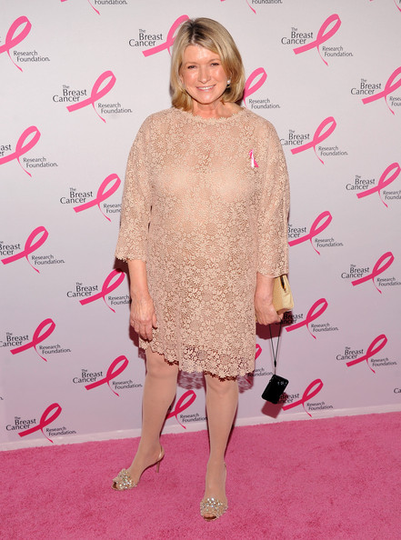 Martha Stewart looked lovely in lace at the Hot Pink Party for the Breast Cancer Foundation.