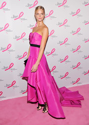 Erin Heatherton paid homage to every little girl's favorite doll in this hot pink high-low finish gown.